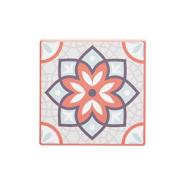 KitchenCraft Moroccan Inspired Terracotta Mandala Cork Back Ceramic Coaster