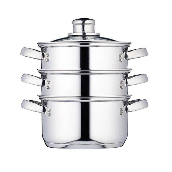 KitchenCraft Stainless Steel Three Tier 16cm Steamer