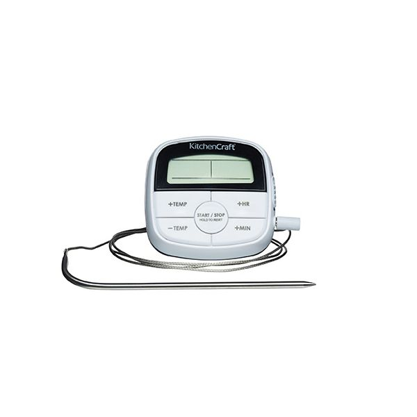 KitchenCraft Digital Cooking Thermometer & Timer