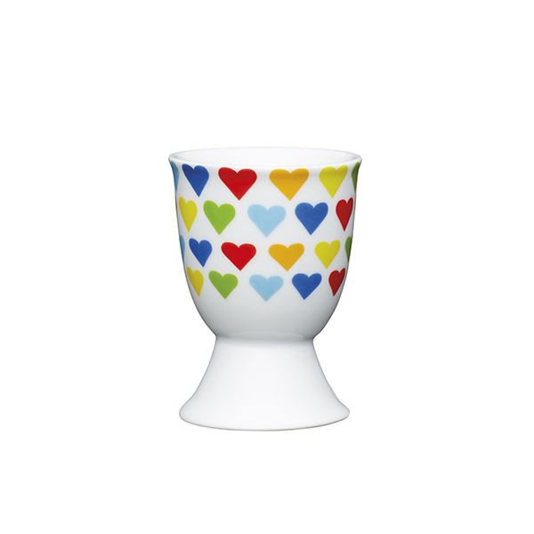 KitchenCraft Bright Hearts Porcelain Egg Cup