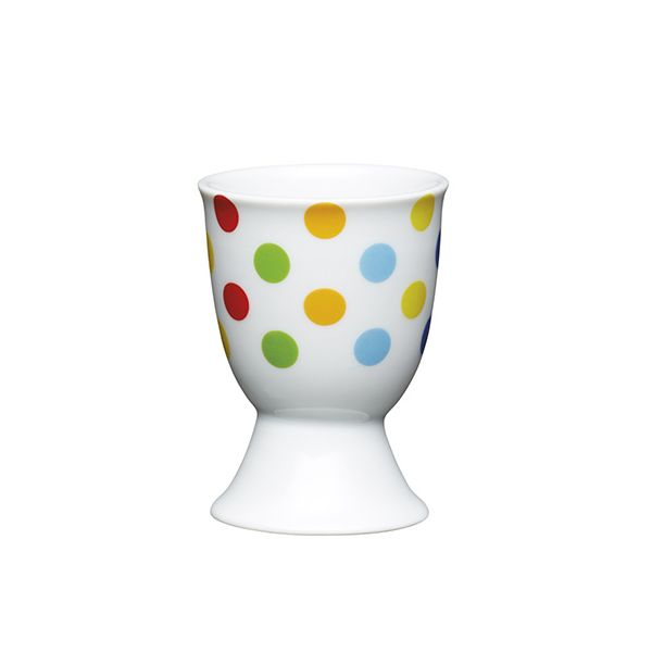 KitchenCraft Bright Spots Porcelain Egg Cup