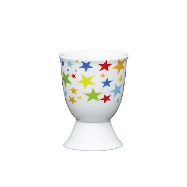 KitchenCraft Bright Stars Porcelain Egg Cup