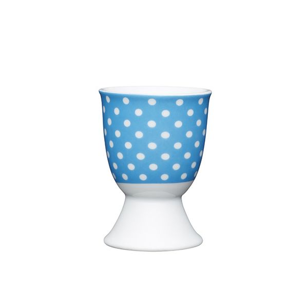 KitchenCraft Blue Polka Dot Porcelain Egg Cup