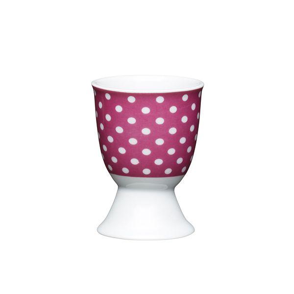 KitchenCraft Pink Polka Dot Porcelain Egg Cup