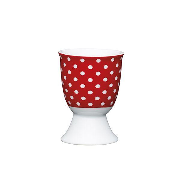 KitchenCraft Red Polka Dot Porcelain Egg Cup