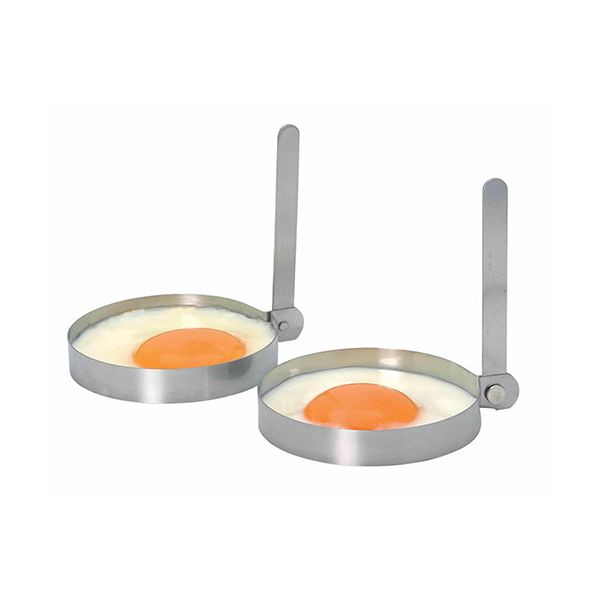 KitchenCraft Stainless Steel Round Egg Rings, Set of Two