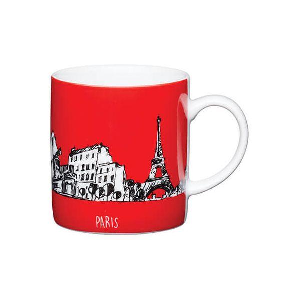 Kitchen Craft Paris Red Porcelain Espresso Mug