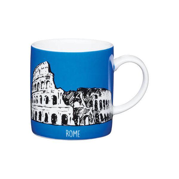 Kitchen Craft Rome Blue Porcelain Espresso Mug
