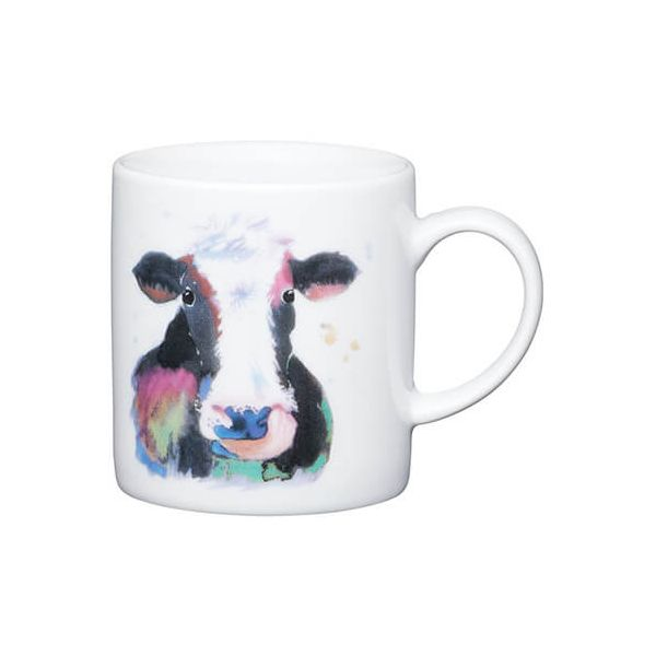 Kitchen Craft Watercolour Cow Porcelain Espresso Mug