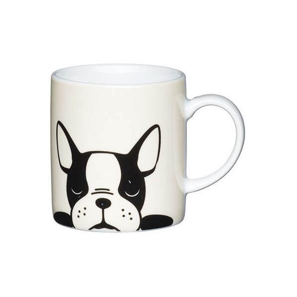 Kitchen Craft French Bulldog Porcelain Espresso Mug