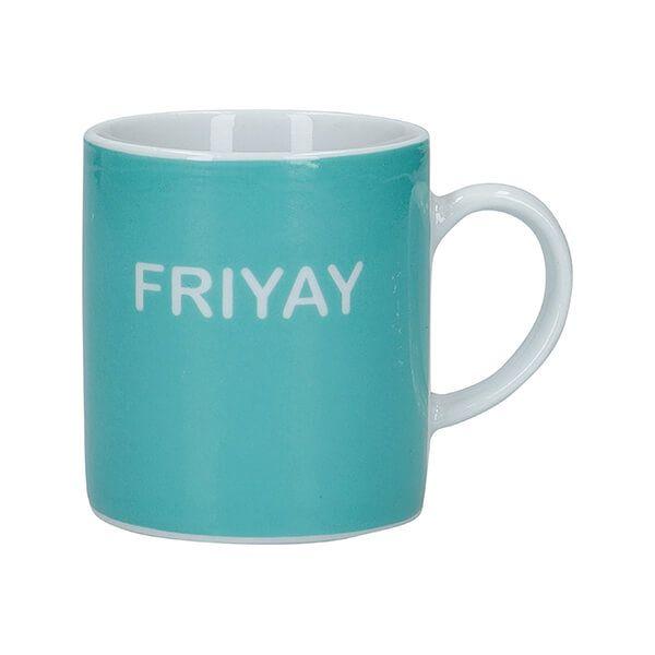 KitchenCraft Friyay Porcelain Espresso Cup