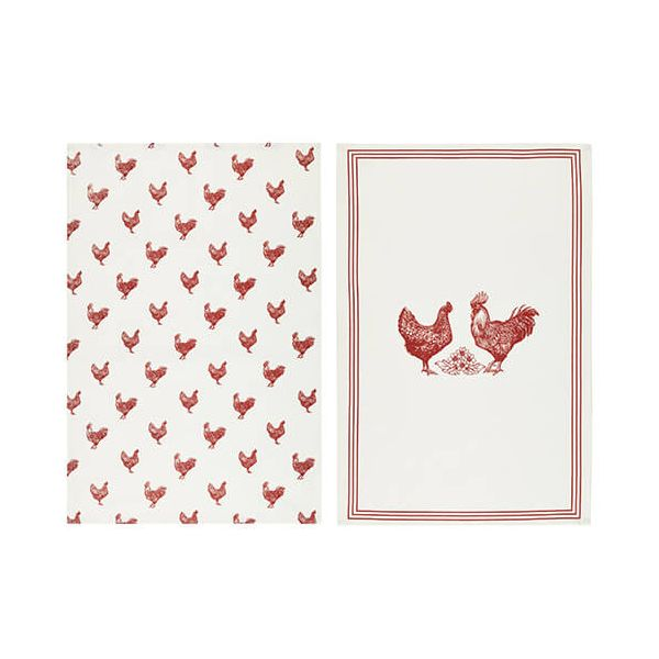 KitchenCraft Hen Tea Towels 2 Piece Set