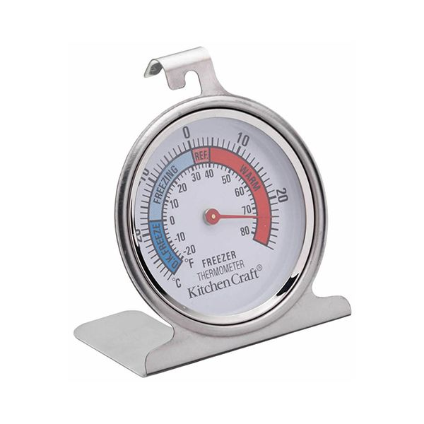 KitchenCraft Stainless Steel Fridge Thermometer 7.5cm