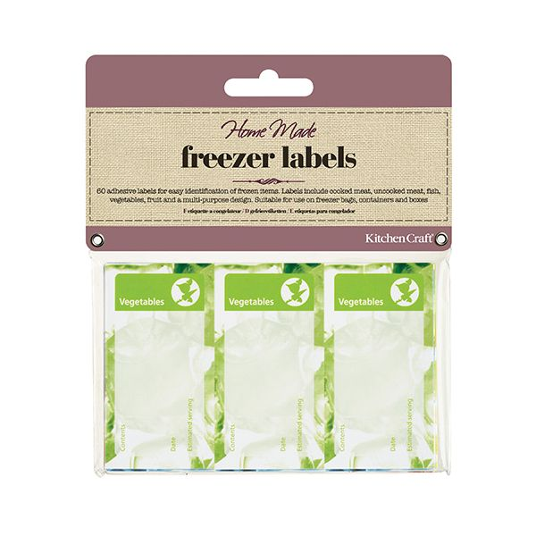 KitchenCraft Home made Pack of Sixty Assorted Freezer Labels