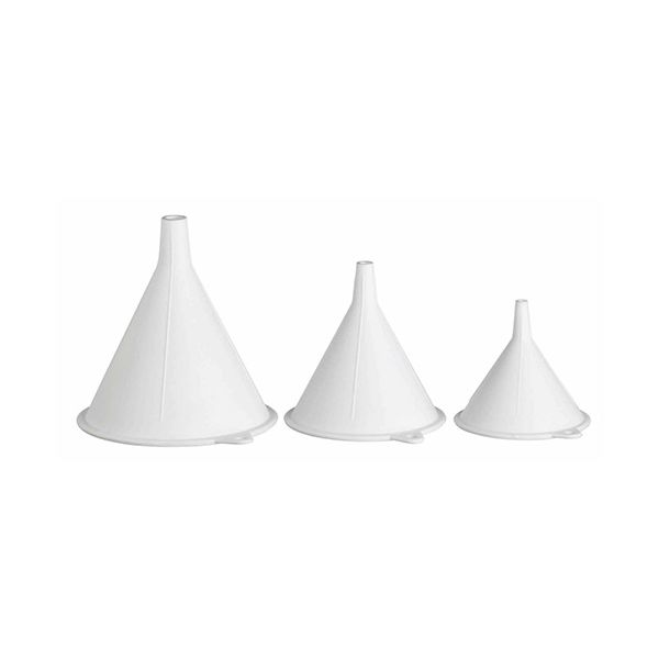 KitchenCraft Polypropylene Food Safe Funnels, Set of Three