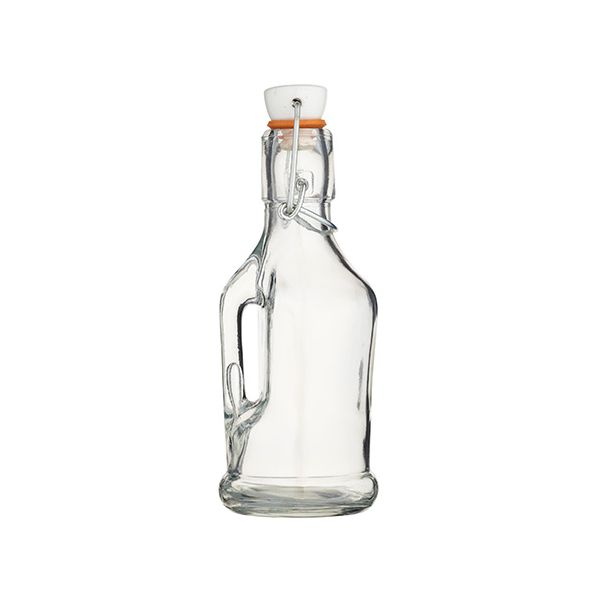 Home Made 210ml Glass Bottle with Handle