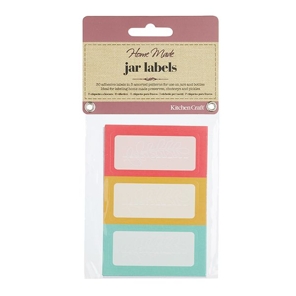 Home Made Pack of 30 Brights Self Adhesive Jar Labels