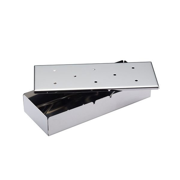 KitchenCraft Stainless Steel 22cm Wood Chip Smoker Box