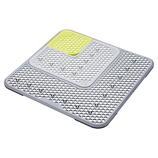 KitchenCraft Adjustable Grey Sink Draining Mat
