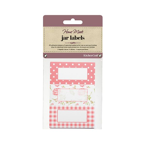 Home Made Pack of Thirty Self-Adhesive Jam Jar Labels - Roses