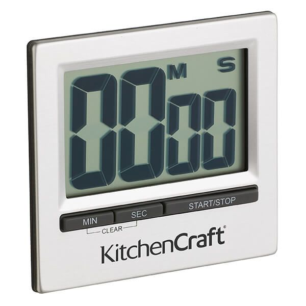 KitchenCraft Large Easy Read Chromed Timer