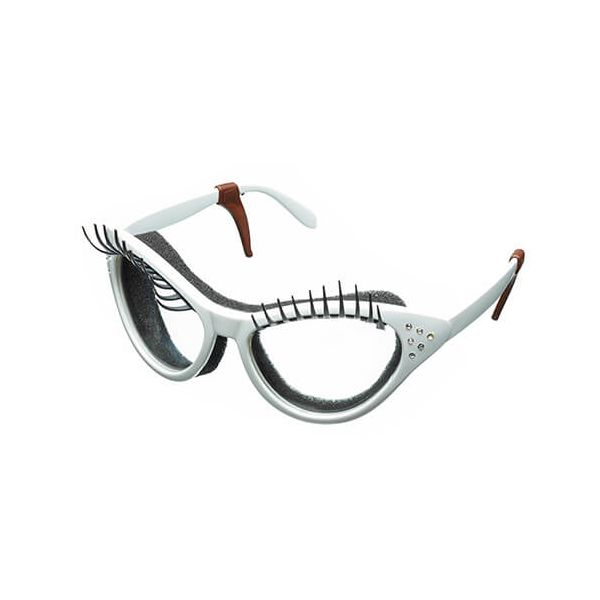 Fred White Kitchen Diva Eyelash Onion Glasses