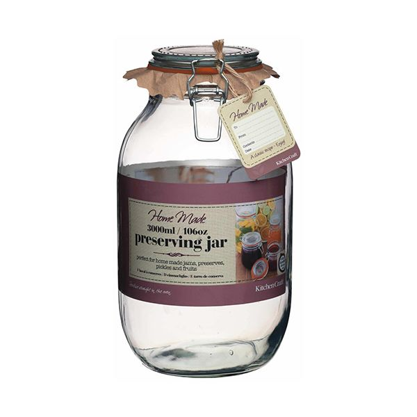 Home Made Glass 3 Litre Preserving Jar