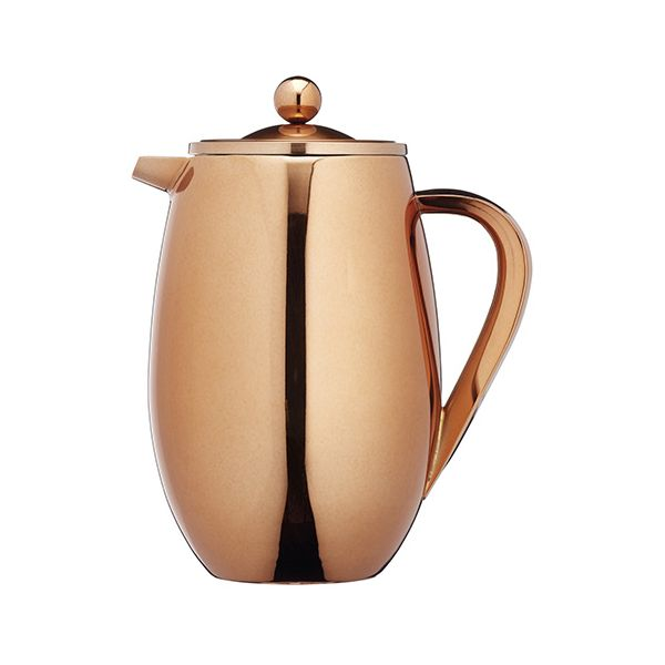 Kitchen Craft Le Xpress 8 Cup Double Walled Copper Finish Cafetiere