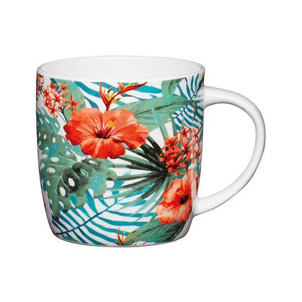 KitchenCraft China 425ml Barrel Shaped Mug, Jungle