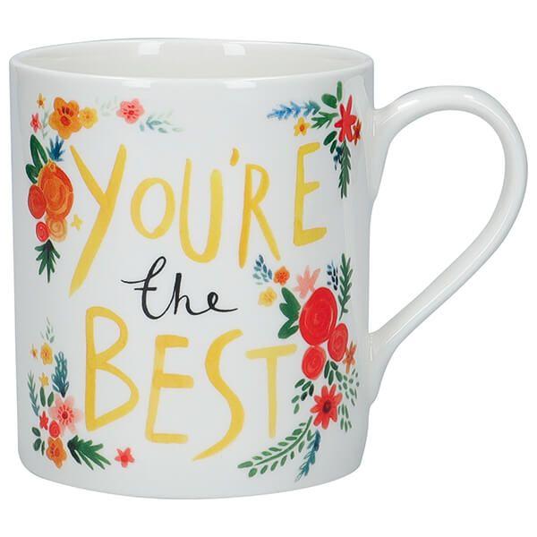 KitchenCraft Fine Bone China 330ml Can Mug, 'You're The Best'