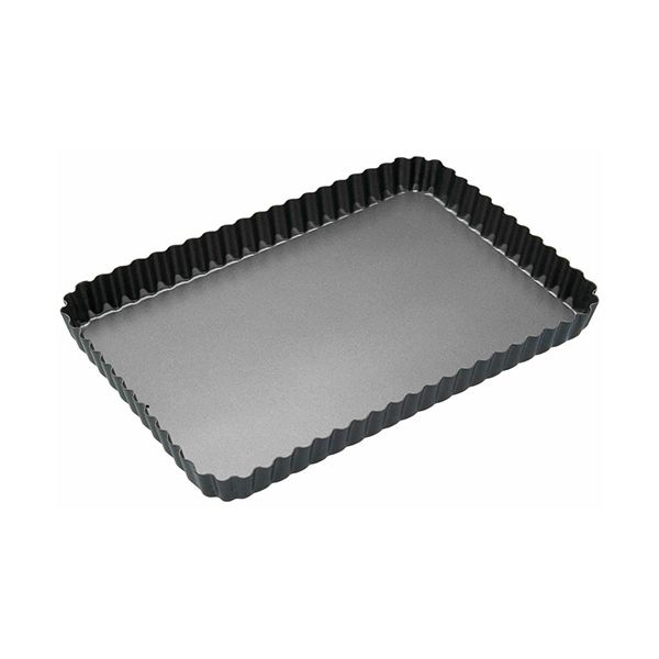 Master Class Non-Stick Fluted Rectangular Flan / Quiche Tin, 31 x 21 x 2.5cm
