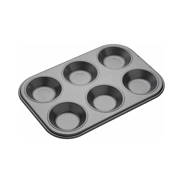 Master Class Non-Stick Six Hole Shallow Baking Pan 24 x 16cm