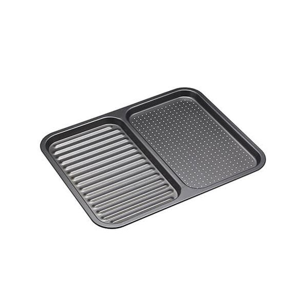 MasterClass Divided Ridged Baking Tray 39cm x 31cm