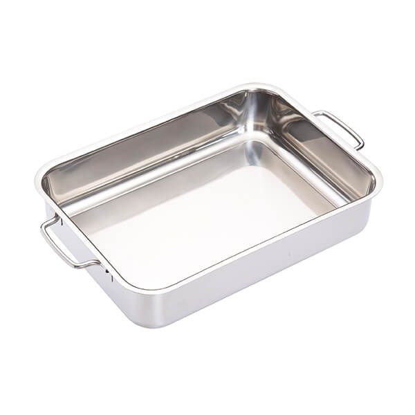 Master Class Stainless Steel Heavy Duty 32cm x 23cm Roasting Pan