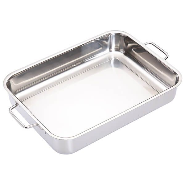 Master Class Stainless Steel Heavy Duty 37cm x 27cm Roasting Pan