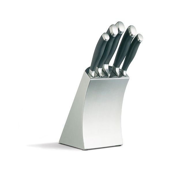 Master Class Trojan Five Piece Knife Set and Stainless Steel Block
