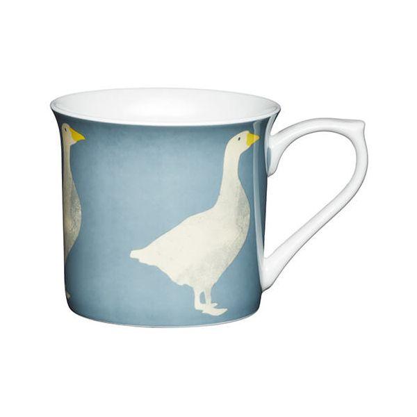 KitchenCraft China 300ml Fluted Mug, Goose