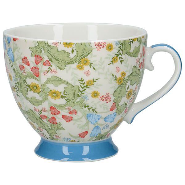 KitchenCraft China 400ml Footed Mug, Dawn Floral