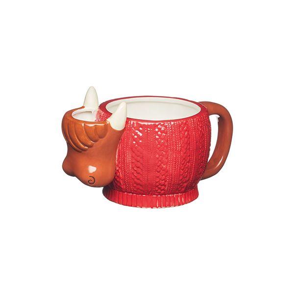 KitchenCraft Highland Cow Mug with Tea Bag Holder