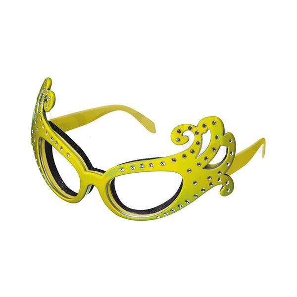 Kitsch'n'fun Dame Edna Onion Glasses Yellow