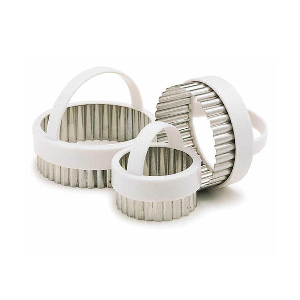 KitchenCraft Fluted Pastry Cutters, Set of Three