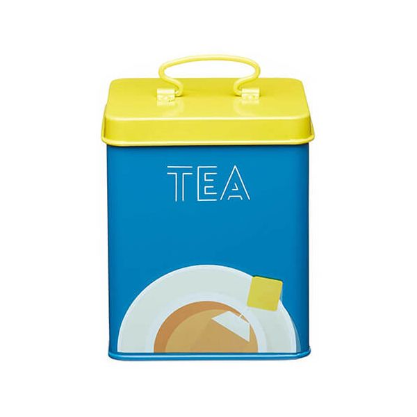 KitchenCraft Bright Printed Tea Canister