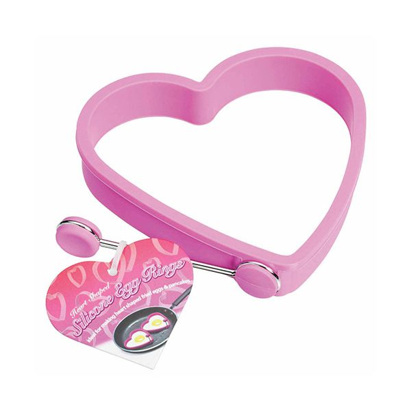 KitchenCraft Pink Silicone Heart Shaped Egg Ring