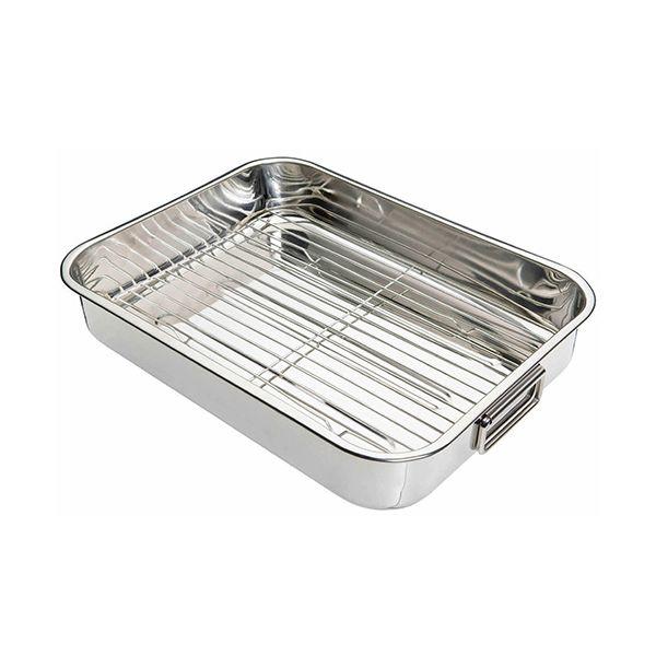 KitchenCraft Stainless Steel 43cm Roasting Pan