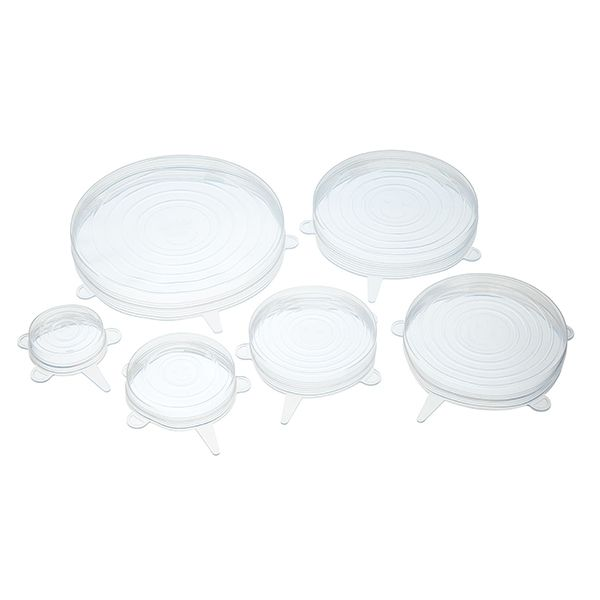 KitchenCraft Set of Six Silicone Lids