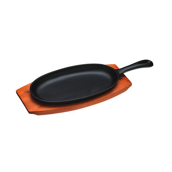 World Of Flavours Oriental Cast Iron Sizzle Platter