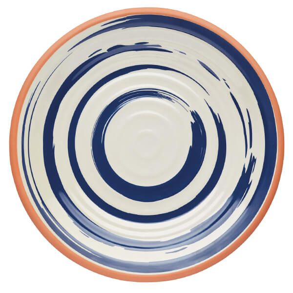 KitchenCraft Lulworth Melamine 28cm Dinner Plate