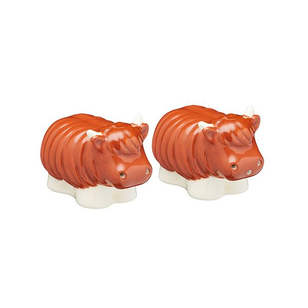 KitchenCraft Highland Cow Salt and Pepper Shakers