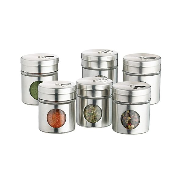 Home Made Set of Six Spice Jars