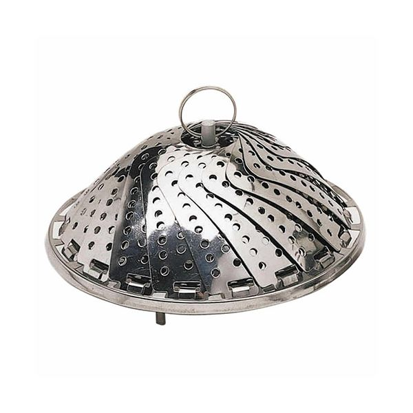 KitchenCraft Stainless Steel Collapsible Steaming Basket 23cm